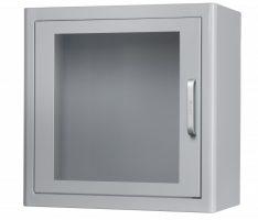 Cabina desfibrilador interior metálica con alarma